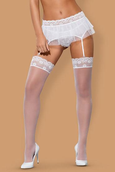 Obsessive Julitta Stockings Чулки с кружевной резинкой чулки obsessive sedusia stockings размер l xl