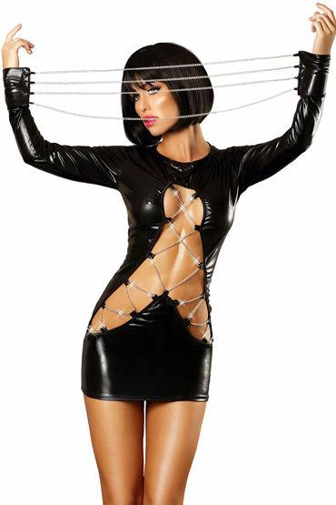 Lolitta Dash, черное Платье декорированное цепочками fleshlight dorcel girls valentina nappi копия вагины порно звезды валентины наппи