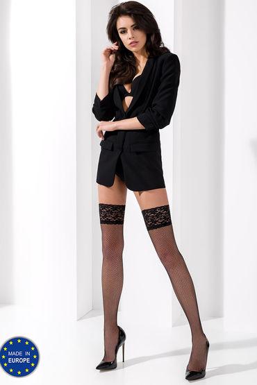Passion чулки ST020, черные Сексуальные, в сеточку livia corsetti luisanna пеньюар сорочка и трусики