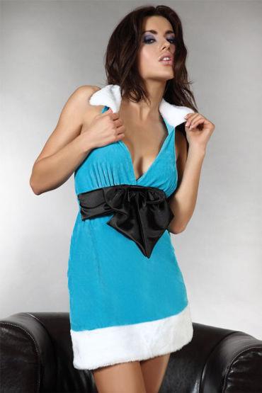 Livia Corsetti Christmas wish, бирюзовое Платье на тему Нового года чулки coquette в мелкую сетку под пояс черные os