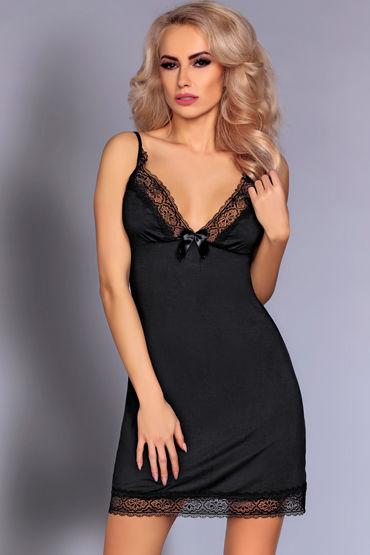 Livia Corsetti Lorey, черная Атласная сорочка и трусики livia corsetti jarita трусики панти