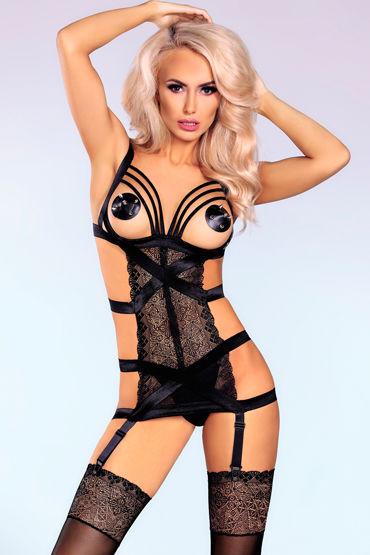 Livia Corsetti Itzel, черная Откровенная сорочка и трусики боди комбинезон livia corsetti valisa s l
