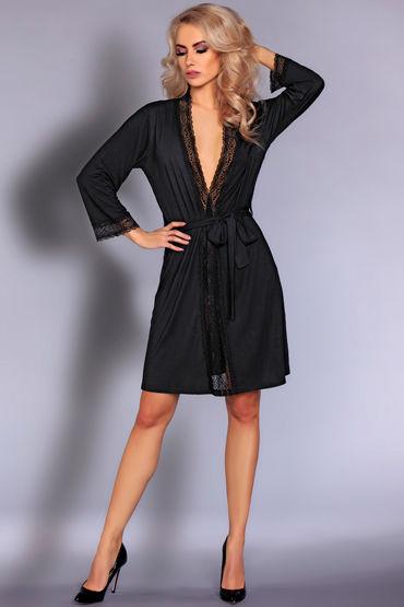 Livia Corsetti Frances, черный Пеньюар украшенный кружевом avanua eternity corset эротичный корсет с поясом и трусики