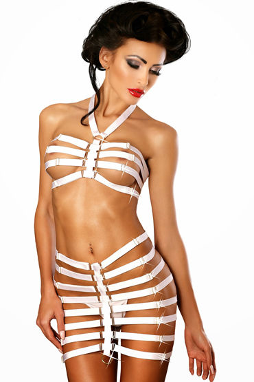 Lolitta Amazing, белый Комплект из бюстгальтера и юбочки трусики lolitta chain l xl