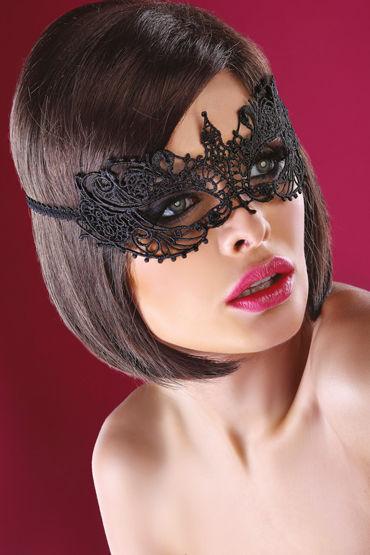 LivCo Corsetti Mask Model 12, черная Маска из ажурного кружева livco corsetti handcuff model 1 красно черные манжеты из натуральной кожи