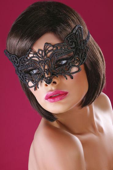 LivCo Corsetti Mask Model 13, черная Маска из ажурного кружева livco corsetti handcuff model 1 красно черные манжеты из натуральной кожи