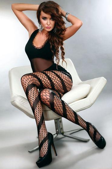 LivCo Corsetti Bosma, черные Колготки со спиральным рисунком livco corsetti gillian черная сорочка из сетчатого материала