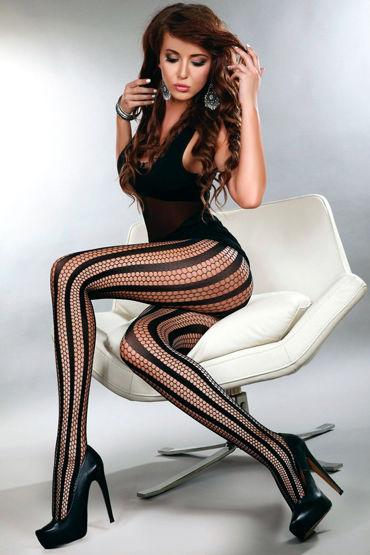 LivCo Corsetti Degana, черные Колготки из сетки с вертикальным рисунком livco corsetti gillian черная сорочка из сетчатого материала