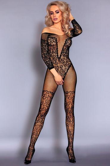 LivCo Corsetti Nurya, черный Боди-комбинезон с кружевным рисунком livco corsetti gillian черная сорочка из сетчатого материала