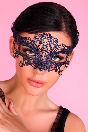 LivCo Corsetti Mask Model 2 Blue, синяя Ажурная маска на глаза ажурная маска на глаза uni