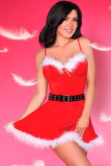 LivCo Corsetti Meredith, красное Новогоднее платье и трусики пеньюар livco corsetti narele размер l xl белый