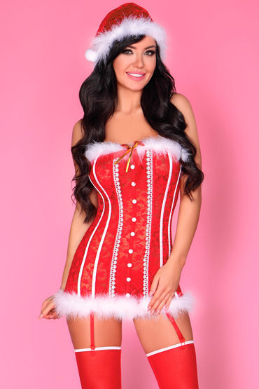 LivCo Corsetti Shyamala, красный Новогодний корсет, трусики и колпак боди комбинезон livco corsetti shivali размер s l