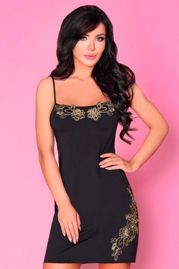 Livia Corsetti Carian, черная Сорочка и трусики livco corsetti roanna черная сорочка с кружевом и трусики