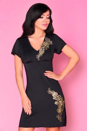Livia Corsetti Medea, черная Сорочка и трусики temptlife чулки с бантами черные с декорированной резинко