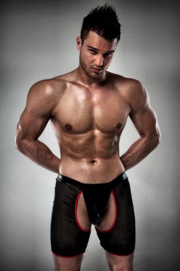 Passion 012 Thong, черные Боксеры с вырезами