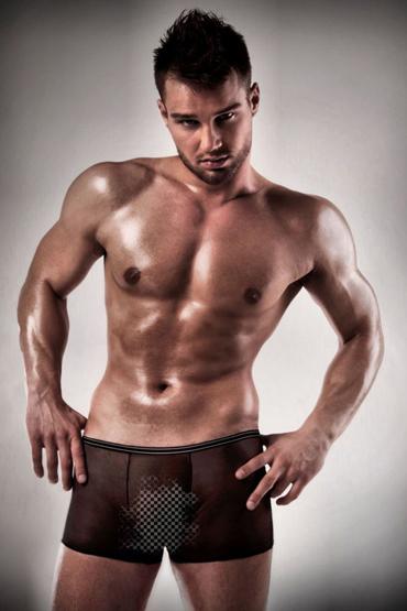 Passion 025 Short, черные Полупрозрачные короткие боксеры все товары passion