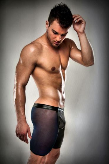 Passion 026 Short, черные Полупрозрачные боксеры mio мужской презерватив тонкие презервативы 30 шт секс игрушки для взрослых