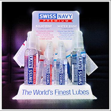 Тестер Подставка Swiss Navy для Водных/Силиконовых лубрикантов (на 12 шт.) у swiss navy silicone lubricant 59 vk