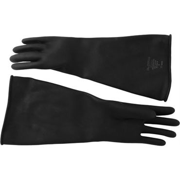 Mister B Thick Industrial Rubber Gloves 9, черные