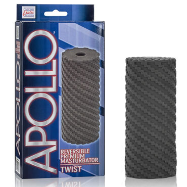 California Exotic Apollo Reversible Premium Masturbator Twist, черный, Двусторонний мастурбатор