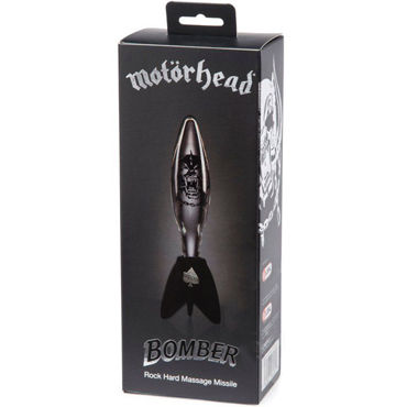 Motorhead Bomber Clear&Black Glass Massager, прозрачный - подробные фото в секс шопе Condom-Shop